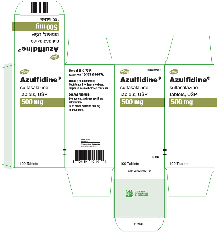 PRINCIPAL DISPLAY PANEL - 500 mg Tablet Bottle Label - 0101-10