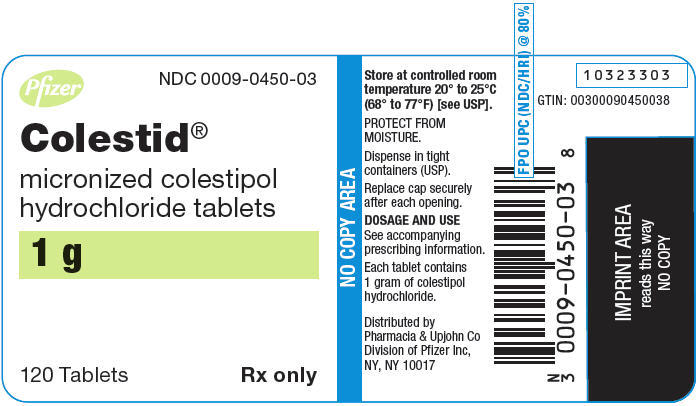 PRINCIPAL DISPLAY PANEL - 1 g Tablet Bottle Label